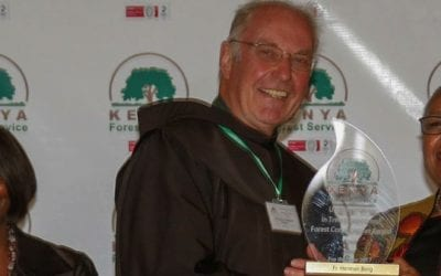 Br. Hermann Borg receives award for Tree Growing and Forest Conservation