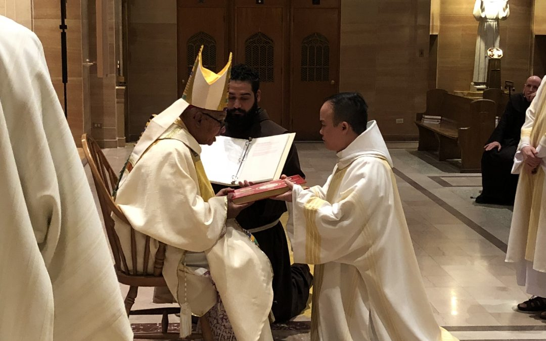 Three Franciscan Friars Ordained Deacons