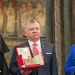 King Abdullah II of Jordan receives the Lamp of Peace Award in Assisi