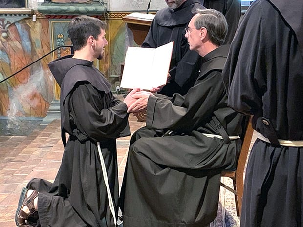 Ten Men Profess First Vows as Franciscan Friars