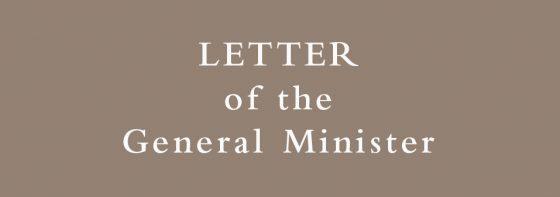 Coronavirus: Letter of the General Minister
